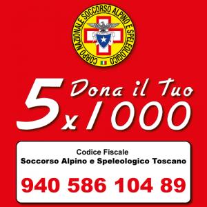 cinque per mille soccorso alpino e speleologico toscano