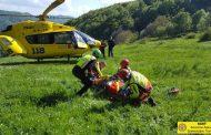 Intervento della Stazione Monte Falterona per recupero ferito a Valdiccioli (Borgo San Lorenzo, Fi)