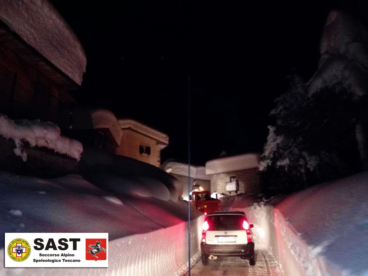 Le squadre del Soccorso Alpino Toscano nei territori colpiti dall'emergenza