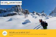 """Domenica 15 Gennaio Torna l'appuntamento """"Sicuri con la Neve"""", l'iniziativa organizzata dal CNSAS e dal CAI"""