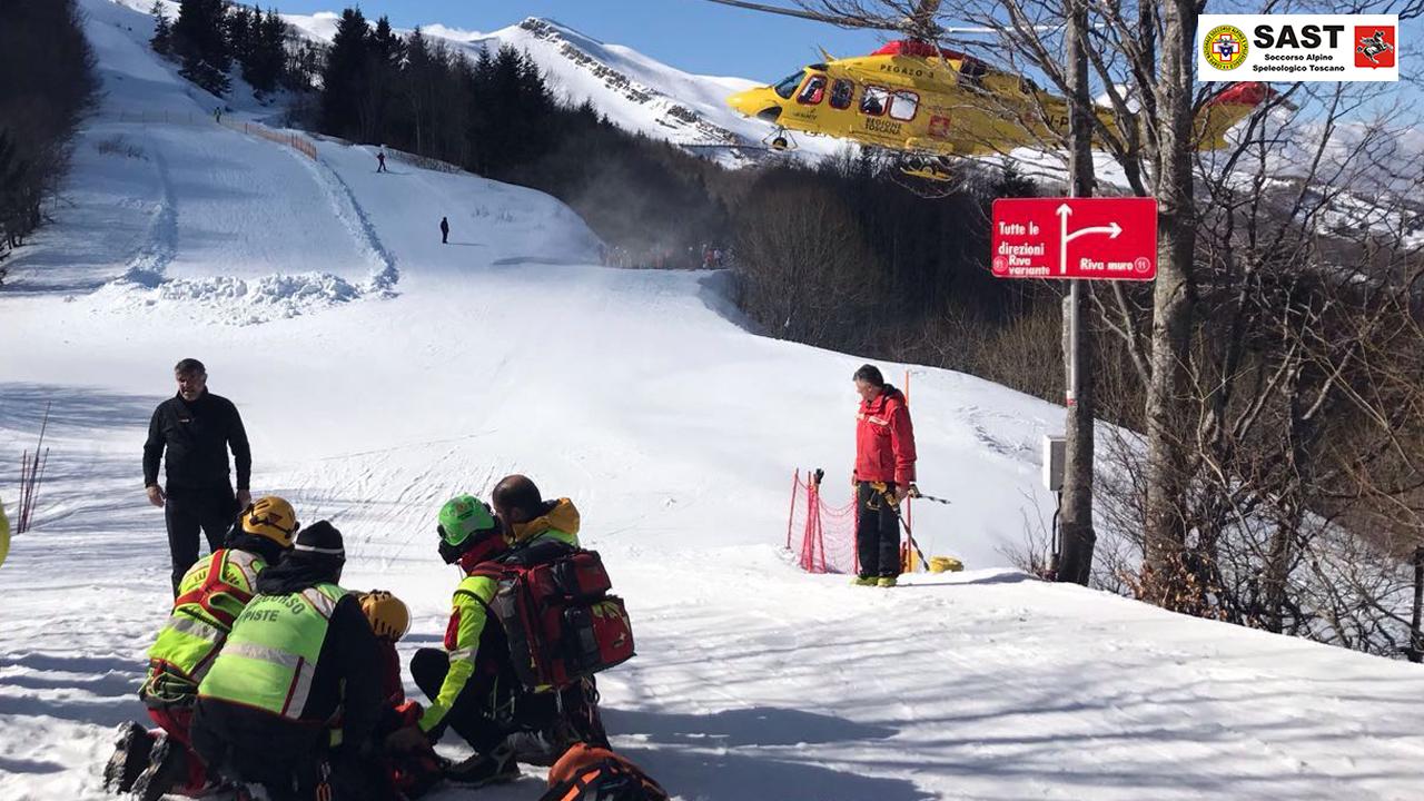La Stazione Appennino Toscano in soccorso ad un bambino caduto fuori pista