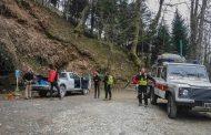 Monte procinto presidiato dal Soccorso Alpino per lavori di manutenzione