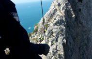 Intervento della Stazione Monte Amiata per il recupero  di un Alpinista ferito Capo d'Uomo-Argentario