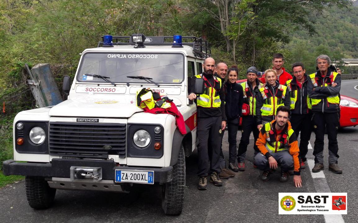 La Stazione di Carrara e Lunigiana del Soccorso Alpino Toscano è intervenuta sera per un intervento su un cercatore di funghi nella zona di Caprigliola