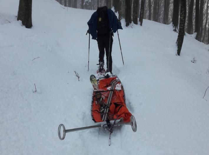 La stazione Monte Falterona del Soccorso Alpino Toscano in soccorso di uno scialpinista in difficoltà