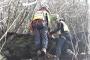 La Stazione Monte Falterona in soccorso ad un operaio infortunato durante la manutenzione su di un palo della linea telefonica a Badia Prataglia