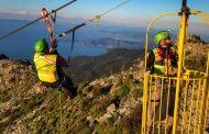 I tecnici del Soccorso Alpino Toscano della Stazione Monte Amiata hanno effettuato l'annuale scarico dell'impianto di risalita del Monte Capanne