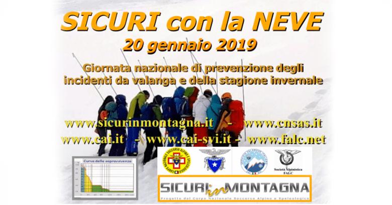 20 Gennaio Sicuri sulla Neve 2019 con il Soccorso Alpino Toscano