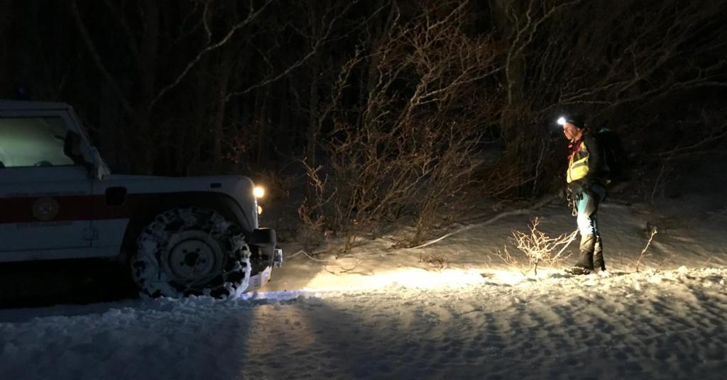 La Stazione Monte Falterona del Soccorso Alpino Toscano impegnata nella notte sul Monte Secchietaper il recupero di un gruppo di scout bloccati dal maltempo