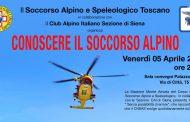 """Venerdì 5 aprile si terrà, nella Sala Convegni di Palazzo Patrizi a Siena, la serata """"Conoscere il Soccorso Alpino"""""""