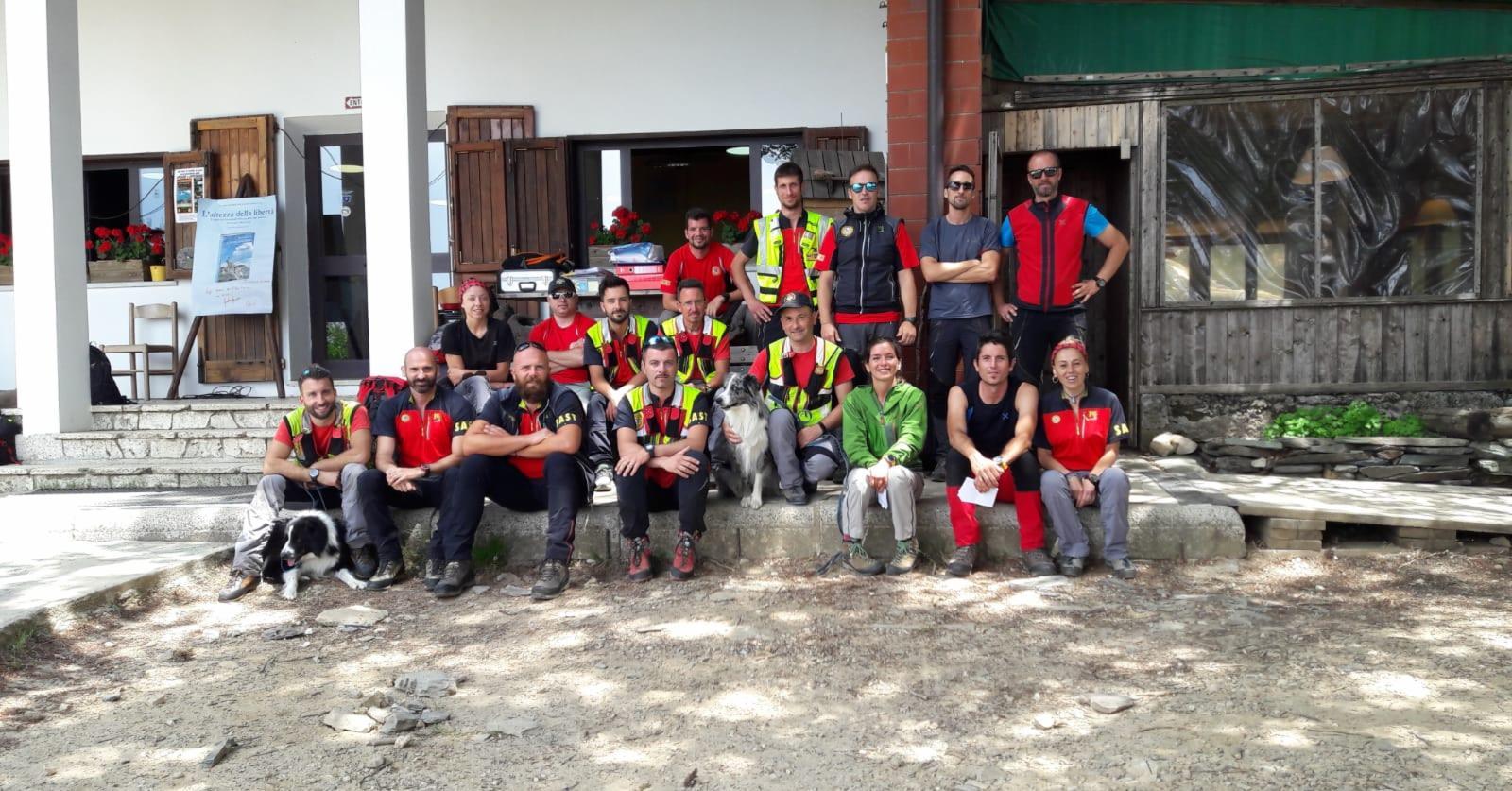 Esercitazione della Stazione Carrara Lunigiana con l'ausilio delle unità cinofile del servizio regionale del Soccorso Alpino Toscano