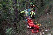 Complesso recupero di un'escursionista a Monte Morello per la Stazione Monte Falterona del Soccorso Alpino Toscano