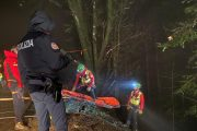 Difficile intervento in notturna per i tecnici del Soccorso Alpino Toscano della stazione Appennino sul territorio pistoiese