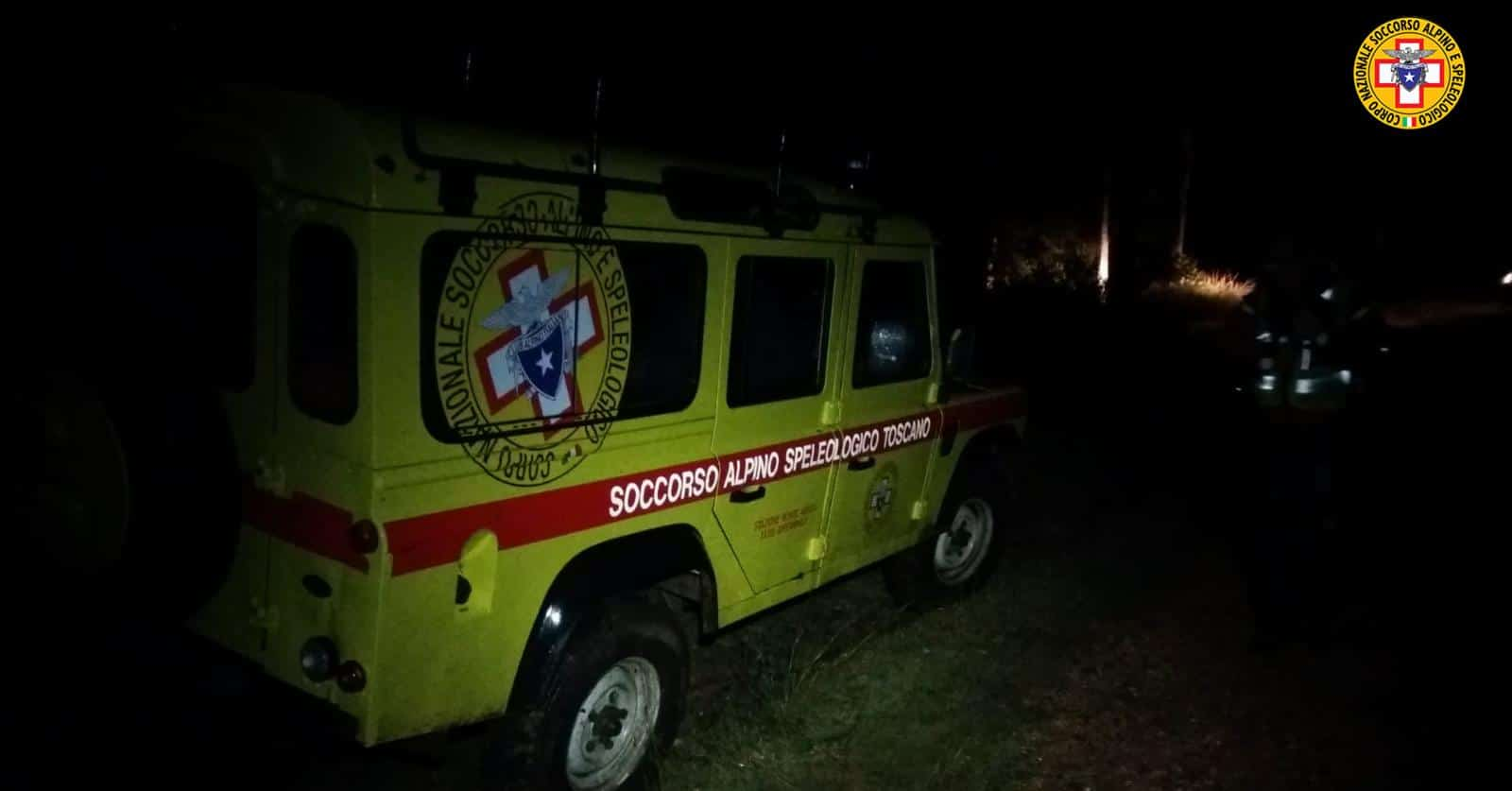 Intervento in notturna per i tecnici del Soccorso Alpino Toscano della stazione Amiata per una cercatrice di funghi dispersa