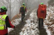 La Stazione Falterona del Soccorso Alpino Toscano attivata dalla Centrale 118 di Firenze per soccorrere una giovane scout con un trauma alla caviglia sul del Pratomagno