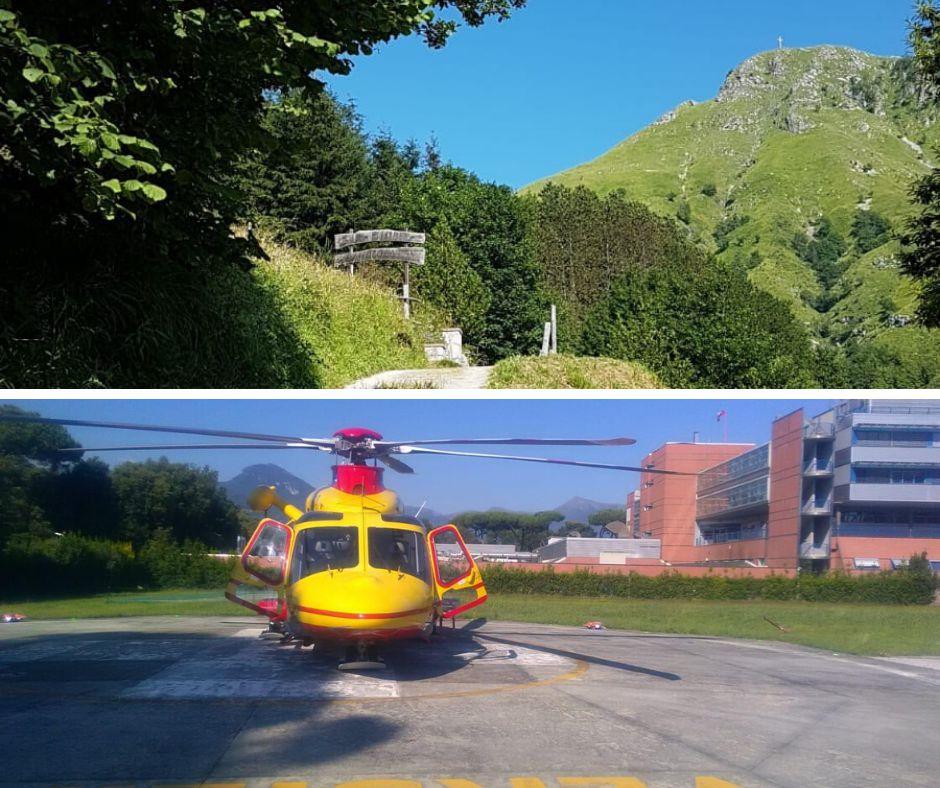 La Stazione di Lucca attivata per un incidente mortale sul M.Prana, Alpi Apuane meridionali.
