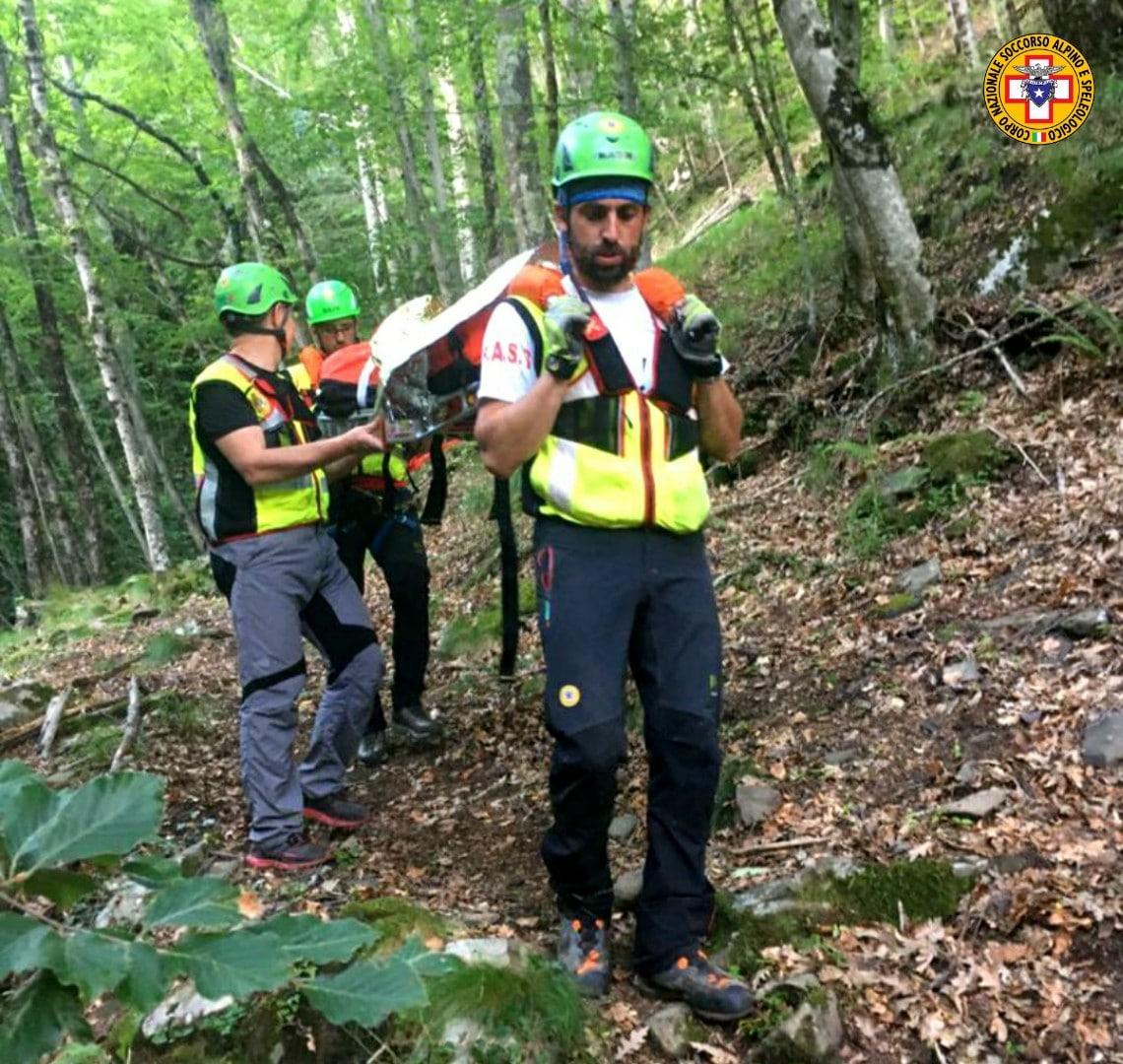 La Stazione Monte Falterona attivata per un escursionista infortunata alla Cascate di Meriggioni - Reggello