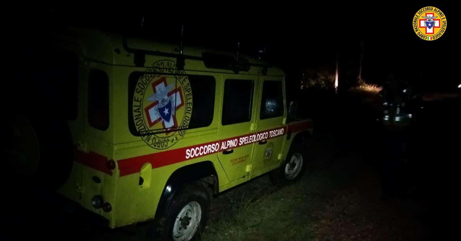 La stazione Monte Falterona del Soccorso Alpino Toscano attivata ieri sera per la ricerca di un'anziana dispersa nel comune di greve in Chianti (FI).